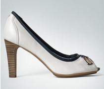 Damen Schuhe Peeptoe im Marinestil
