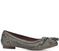 Damen Schuhe Ballerina Nubukleder stone