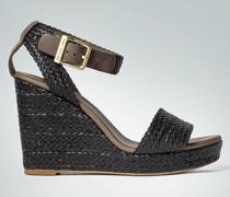 Damen Schuhe Wedges aus geflochtenem Leder