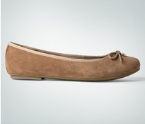 Damen Schuhe Ballerinas aus Veloursleder