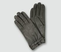 Damen Handschuhe Nappaleder asphalt