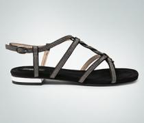 Damen Schuhe Sandalen in Silber-Metallic