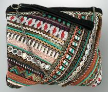 Damen Tasche mit Perlen und Borten