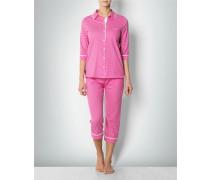 Nachtwäsche Pyjama in grafischem Allover-Dessin