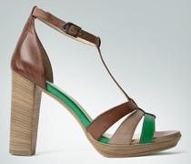 Damen Schuhe Plateau-Sandalette mit hohem Blockabsatz