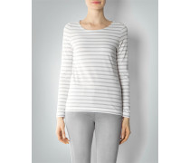 Damen T-Shirt Longsleeve im Streifen-Look