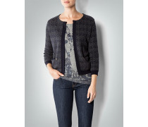 Damen Cardigan in floralem Dessin