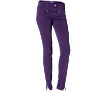 Damen Jeans Baumwolle lila