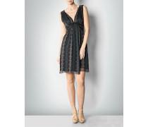Damen Kleid mit Grafik-Print aus Seide