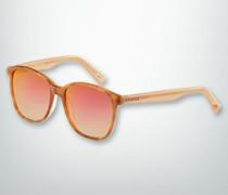 Damen Brille Sonnenbrille mit Bügel in Kontrastfarbe