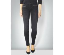 Jeans mit Reißverschluss-Taschen