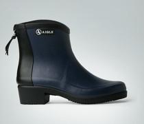 Damen Schuhe Gummistiefeletten im Two Tone-Look