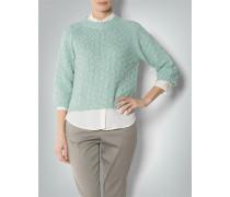 Damen Pullover mit raffiniertem Goldglanz-Effekt