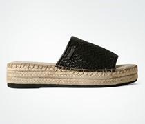 Damen Schuhe Sandalen mit Bastsohlenrand