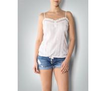 Damen T-Shirt Top mit Spitzen-Details