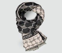 Schal mit Allover Logo-Dessin