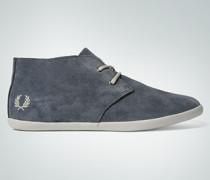 Damen Schuhe Schnür-Bootie aus Veloursleder