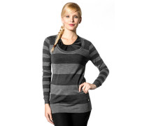 Damen Pullover Wollmischung grstreift