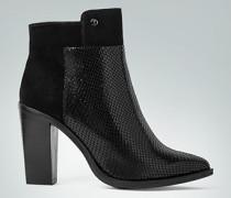 Damen Schuhe Stiefeletten mit Reptil-Prägung vorne