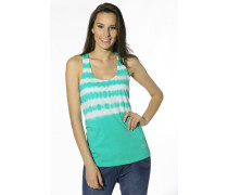 Damen T-Shirt Top Baumwolle lagoon