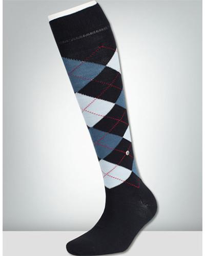 Socken 3er Pack, Kniestrumpf, Agyle navy-hell