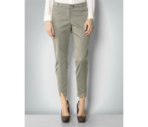 Damen Hose mit Allover-Jaquard Muster und edlem Glanz
