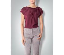 Damen Bluse aus Seide mit Falten-Details