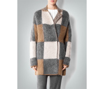 Damen Cardigan im Patchwork-Look ,grau