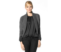 Damen Sweat-Cardigan Baumwollmischung dunkel