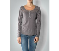 Damen T-Shirt Longsleeve mit Häkelspitze