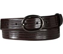 Damen Gürtel Leder dunkel ca. 30 mm