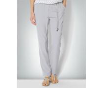 Damen Hose aus fließendem Crêpe im Jog Pants Stil