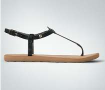 Damen Schuhe Zehensandale mit Retro-Dessin