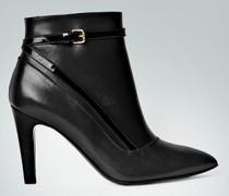 Damen Schuhe Spitze Stiefelette mit Lack-Riemen