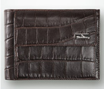 Damen Schein-und Kartentasche aus Rindleder mit Prägung