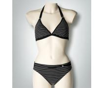 Damen Bademode Triangel-Bikini im Streifen-Look