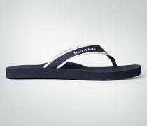 Damen Schuhe Zehensandalen im Streifen-Look