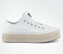 Schuhe Canvas-Sneaker mit Espadrille-Plateausohle