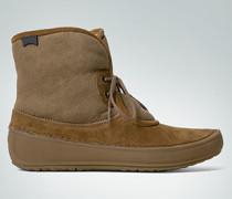Schuh aus weichem Veloursleder