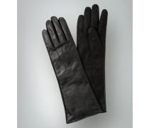 Damen Handschuhe im Leder-Mix