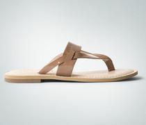 Damen Schuhe Zehensandalen in Lackleder-Optik