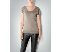 Damen Kurzarm-Pullover mit Metallic-Effekt