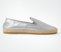 Damen Schuhe Slipper in Espadrilles-Optik