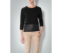 Damen Pullover im Material-Mix