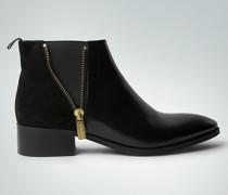 Damen Schuhe Chelsea Boot aus Velours- und Glattleder