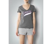 Damen T-Shirt mit Label-Print