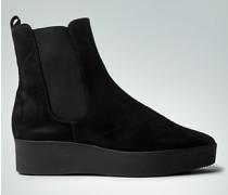 Schuhe Stiefelette mit Keil-Plateauabsatz