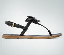 Damen Schuhe Zehensandale mit Blüten-Applikation