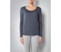 Damen Pyjama-Shirt mit Raffdetail