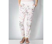 Damen Hose mit floralem Print